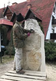 Rzeźba Bolka II na Ślęży