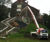 Betonowanie stropu żelbetowego - IX 2014