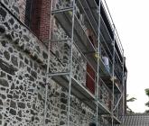 Zabezpieczenie północnej ściany elewacji - VII 2016